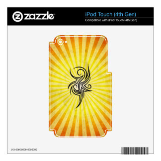 Gothic Art Design yellow Skin For iPod Touch 4G