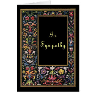Gothic Art Sympathy Card Customizable