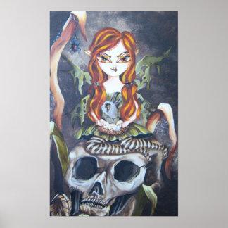 Gothic Autumn Fairy  Art Print