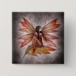 Gothic Autumn Fairy Button by Molly Harrison