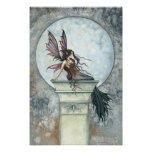 Gothic Autumn Fairy Moon Poster by Molly Harrison