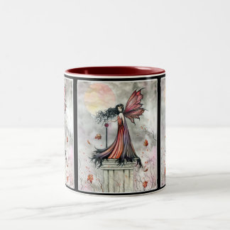 Gothic Autumn Fairy Mug by Molly Harrison