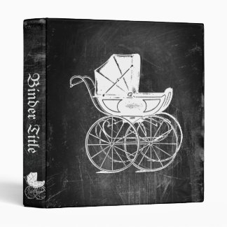 Gothic Baby Carriage 3 Ring Binder
