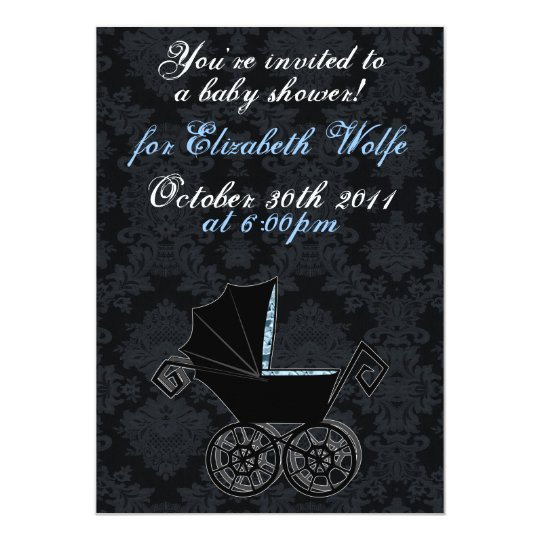 'Gothic Baby Carriage- Boy' Invitation