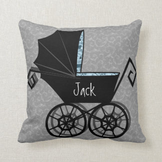 'Gothic Baby Carriage- Boy' Pillow