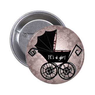 'Gothic Baby Carriage- Girl' Button
