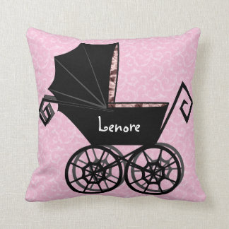 'Gothic Baby Carriage- Girl' Pillow
