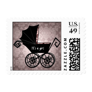 Gothic Baby Carriage- Girl' Postage