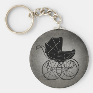 Gothic Baby Carriage Keychain