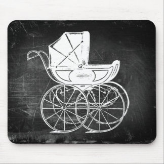 Gothic Baby Carriage Mouse Pad