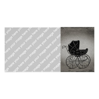 Gothic Baby Carriage Photo Card
