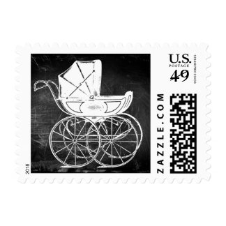 Gothic Baby Carriage Postage Stamp