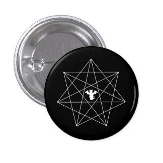 Gothic Bat Cat Heptagram Star Pinback Button