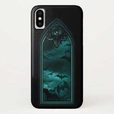 Gothic Bat Window 6 iPhone X Case
