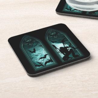 Gothic Bat Windows Coasters (set of 6)