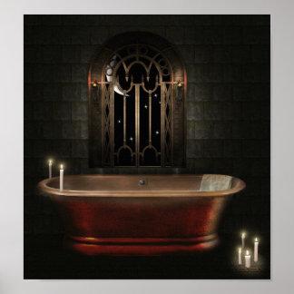 Gothic Bathtub Poster