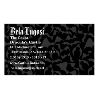 Gothic Bats Vampire Pattern Double-Sided Standard Business Cards (Pack Of 100)