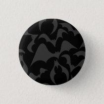 Gothic Bats Vampire Pattern Button