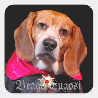 Gothic Beagle, Dogula...AKA Beagle Lugosi sticker