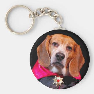 Gothic Beagle Dogula keychain