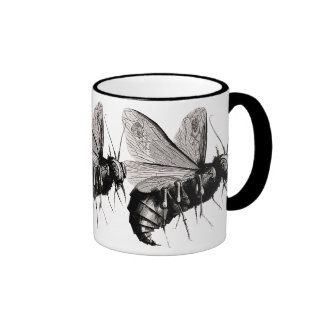 Gothic Bees Skull Wings Coffee Mugs