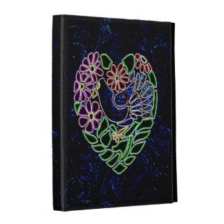 Gothic Bird in Heart iPad Folio Case