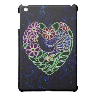 Gothic Bird in Heart iPad Mini Covers