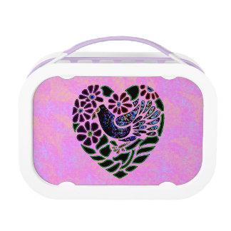 Gothic Bird in Heart Lunchbox