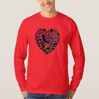 Gothic Bird in Heart T-shirt