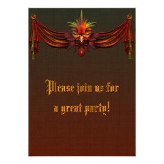 Gothic Bird Invitation