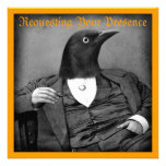 Gothic Bird-Man Halloween Invitation