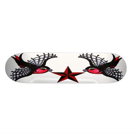 Gothic Birds Skateboard Deck