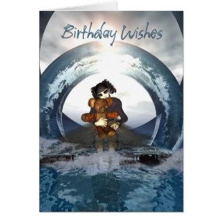 Gothic Birthday Card Little Goth Girl And Deaddy B
