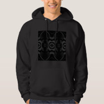 Gothic Black and Gray Floral Pattern. Hoodie