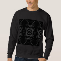 Gothic Black and Gray Floral Pattern. Sweatshirt