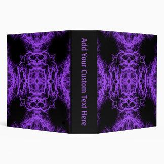 Gothic Black and Purple Design. 3 Ring Binder