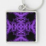 Gothic Black and Purple Design. Keychain
