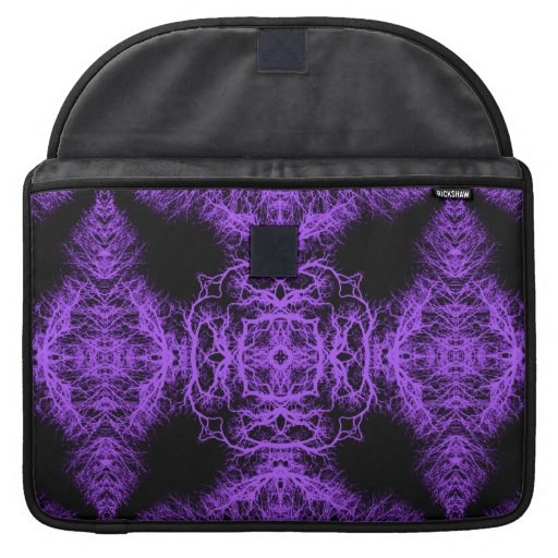 Gothic Black and Purple Design. Sleeve For MacBooks
