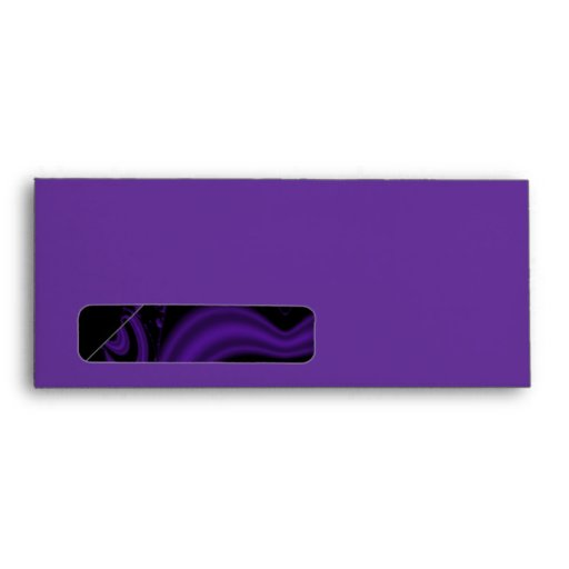 Gothic Black and Purple Floral Pattern. Envelope