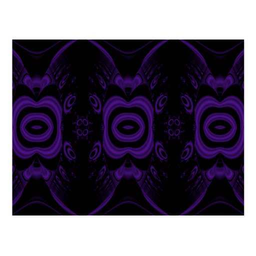 Gothic Black and Purple Floral Pattern  PostcardGothic Floral Pattern