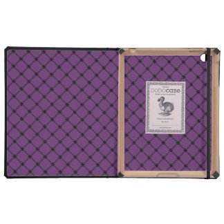 Gothic Black and Purple Pattern Cover For iPad