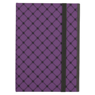 Gothic Black and Purple Pattern iPad Air Cases