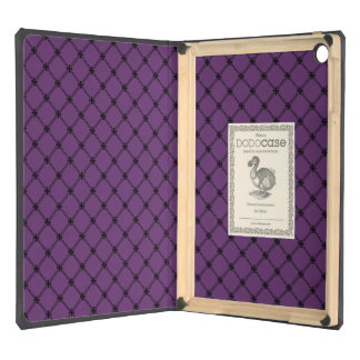 Gothic Black and Purple Pattern iPad Air Covers