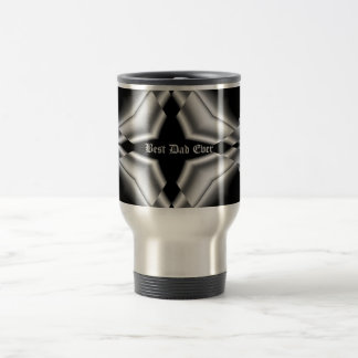 Gothic black and silver, Best Dad Ever Travel Mug