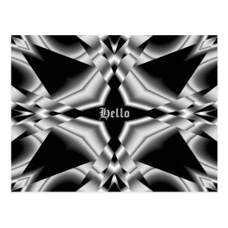 Gothic black and silver, Hello Postcard
