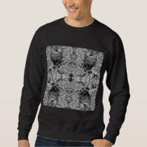 Gothic Black and White Pattern. Sweatshirt