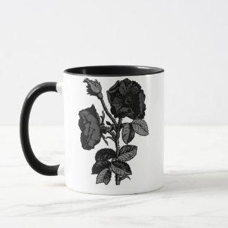 Gothic Black Antique Rose Mug