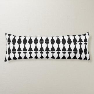 Gothic black cat silhouette body pillow