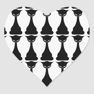 Gothic black cat silhouette stickers