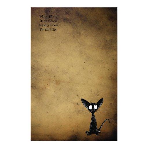 Gothic Black Cat Stationery Zazzle